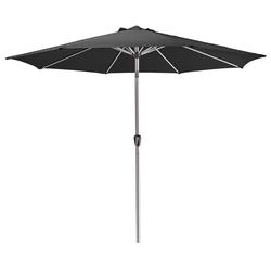AMARE Sonnensegel Luxus Sonnenschirm rund, Wetterfest schwarz