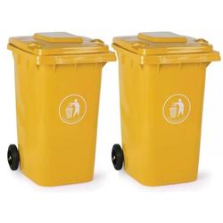 2x kunststoff-mülltonne 240 liter, gelb