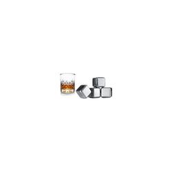 VACUVIN Bar-Set 4er-Set Whisky Edelstahl Kühlsteine