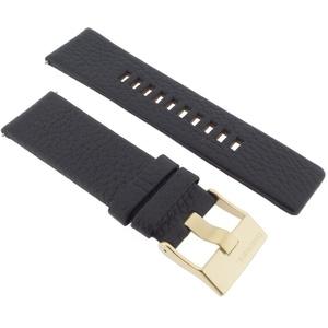 Diesel Uhrband Wechselarmband LB-DZ4344 Original Ersatzband DZ 4344 Uhrenarmband Leder 26 mm Schwarz