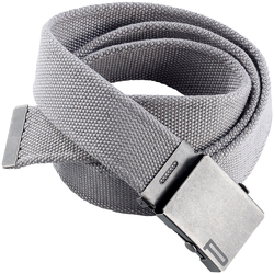 Stoffgürtel mit Metallschnalle, grau, 120 cm
