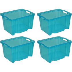 keeeper Aufbewahrungsbox franz (Set, 4 Stück) blau