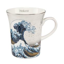 Goebel Tasse Die Welle Hokusai Silber