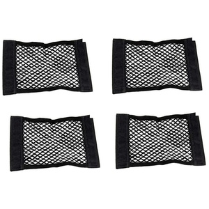 Concisea 4 Stück Kofferraumnetztaschen schwarz,Universal Netztasche mit Kofferraum Netztasche Auto Kofferraum Netztasche Elastische Kofferraumtasche für universal Auto/SUV Kofferraum Gepäcknetz