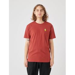 Cleptomanicx T-Shirt Zitrone Zitrone-Stickerei auf der Brust rosa L