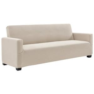 Sofahusse, neu.haus, 140-210cm Sandfarben Sofabezug 3-Sitzer natur