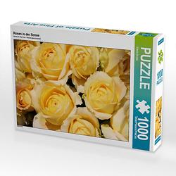 Rosen in der Sonne Lege-Größe 64 x 48 cm Foto-Puzzle Bild von Gisela Kruse Puzzle