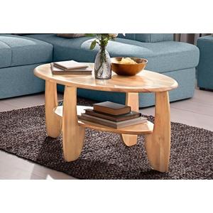 Premium collection by Home affaire Couchtisch, aus Massivholz Wildeiche oder Kernbuche FSC-zertifiziert beige Couchtische rund oval Tische Tisch