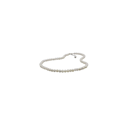 Gallay Perlenkette Kette 6mm Perle Kunststoff kristall-creme 45cm
