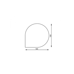 Haas+Sohn | Kamin Glasplatte, Funkenschutzplatte | Form F
