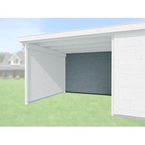 Weka Zubehör für Weka Designhaus 172 und 126 Rückwand Anbau 150 cm grau 21 mm