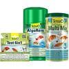 Tetra TETRA Set: Teichpflege , Wassertest, AlgoRem 1 Liter, MultiMix 1 Liter grün