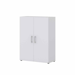 Ordner Büroschrank in Weiß 80 cm