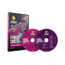 Zumba Fitness Ganzkörpertrainer Fitness-Concert Live Zumba DVD+CD Set,, (2-tlg)