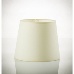 Licht-Erlebnisse Lampenschirm WILLOW Lampenschirm Weiß Stoff für Stehlampe E27 30cm hoch Lampe