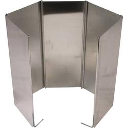 Highlander Windschutz Aluminium GAS003 Windschutz für Gaslaternen und Kocher