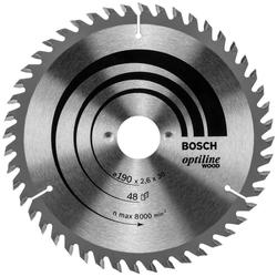Bosch Kreissägeblatt Optiline Holz 190 x 30 48D (Zubehör Kreissäge)