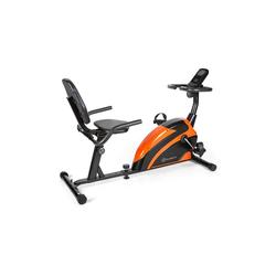 KLARFIT Fahrradtrainer Relaxbike 6.0 SE Liegeergometer 12kg Schwungmasse Magnetwiderstand 100kg orange