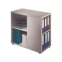 HAMMERBACHER Container, Rollcontainer Flexiline II für ca. 18 Ordner (Ordnerbreite: 8 cm) grau