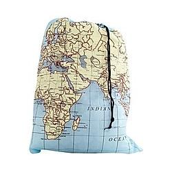 World Map Travel-Size Laundry Bag