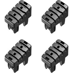 Hailo Fuß-Set 4 Stück für Steig- & Stützholm von Haushaltsleitern 35x20mm Holm (ab Bj. 01/2015)