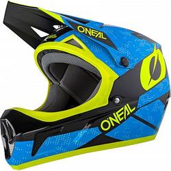ONeal Sonus Deft S20 Fahrradhelm - Blau/Neon-Gelb - XL