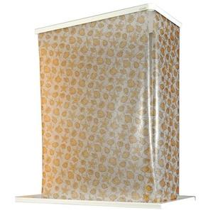 ECO-DuR,4024879010508,1 Paar Ersatzvorhänge ECK Duschrollo 134x62 cm - Muschel gelb