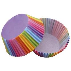Backförmchen Cupcake   Ø 50 mm, 50 Stück, Regenbogen