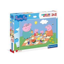 Clementoni® Puzzle Puzzle 24 Teile, Maxi - Peppa Pig, Puzzleteile