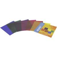 Eurolite Farbfolienbogen 6er Set Rot, Blau, Grün, Gelb, Lila, Violett Passend für (Bühnentechnik)