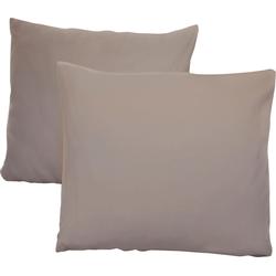 Kissenbezüge Jersey, Schlafgut (2 Stück), mit Aloe Vera Ausrüstung grau 40 cm x 40 cm