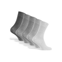 Reslad Langsocken Reslad Business Socken (10 Paar) Damen & Herren (10-Paar) Herrensocken ohne drückende Naht grau 39 - 42