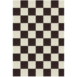Chequer schwarz/ weiß - 165x248 cm