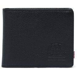 Geldtasche HERSCHEL - Wallets Leather Hank Coin Leather RFID Black Pebbled Leather (01885) Größe: OS