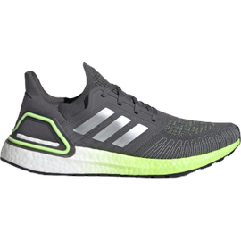 adidas Ultraboost 20 M grey five/silver metallic/signal green 42