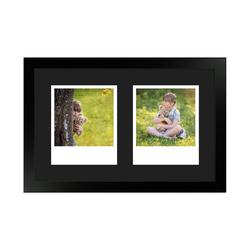 FrameDesign Mende Bilderrahmen Bilderrahmen H950, für 2 Bilder, im Polaroid Format weiß