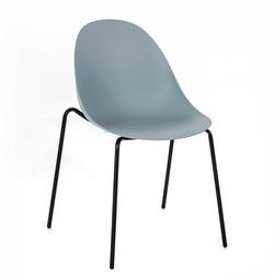 Kunststoff Stühle in Hellblau Kunststoff und Metall (4er Set)