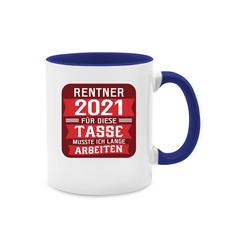 Shirtracer Tasse Rentner 2021 - rot - Tasse zweifarbig