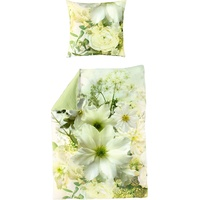 Bierbaum Green Flower grün 135 x 200 cm + 80 x 80 cm