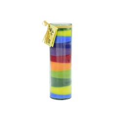 yogabox Duftkerze NUANCE Kerze Streifen Spaß ca. 20 cm