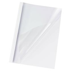 Thermobindemappen A4,  4mm für 40 Blatt, Chromolux weiß, 100 Stk.