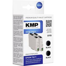 KMP KMP Tintenpatronen 2er-Pack E97D Schwarz 1603,0021 Tintenpatrone