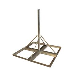 PremiumX DELUXE Sat Balkonständer 4x 50x50cm Stahl 1,20m Mast 60mm Plattenständer Flachdach-Ständer für Satellitenschüssel SAT-Halterung
