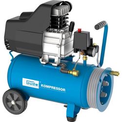 GÜDE Kompressor Set 260/10/24 ST, inkl. 7,5 m Druckluftschlauch blau