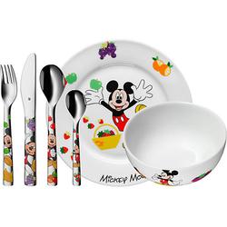 Kindergeschirr- und besteck Disney Mickey Mouse, 6-tlg. bunt