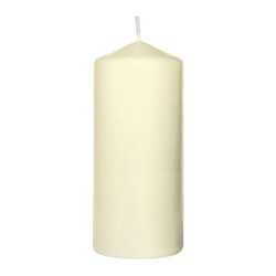 10 Stück Duni Stumpenkerzen Kerzen cream, 150x80 mm