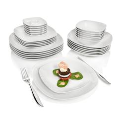 SÄNGER Tafelservice Bilgola, (30 tlg., Geschirrservice Bilgola aus Porzellan 30 teilig) weiß Geschirr-Sets Geschirr, Tischaccessoires Haushaltswaren