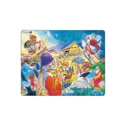 Larsen Puzzle Rahmen-Puzzle, 53 Teile, 36x28 cm, Arche Noah, Puzzleteile