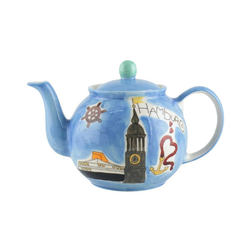 Mila Teekanne Mila Keramik-Teekanne Motiv Hamburg ca. 1,2 Liter, 1,2 l