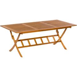 MERXX Gartentisch 100 cm x 75 cm x 200 cm